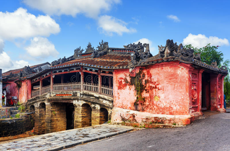 The Japanese Covered Bridge, Hoi An Ancient Town, Vietnam stock photo
