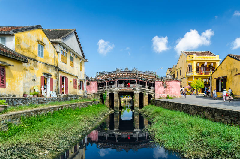 Japanese Covered Bridge in Hoi An. Vietnam stock images