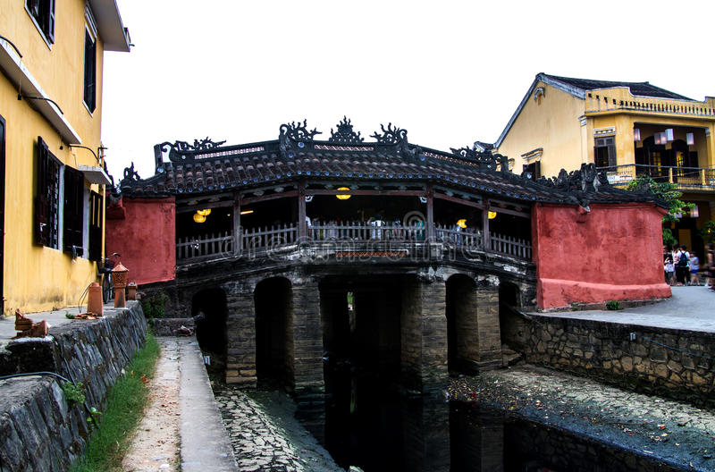 Japanese covered bridge, hoi an, vietnam royalty free stock images