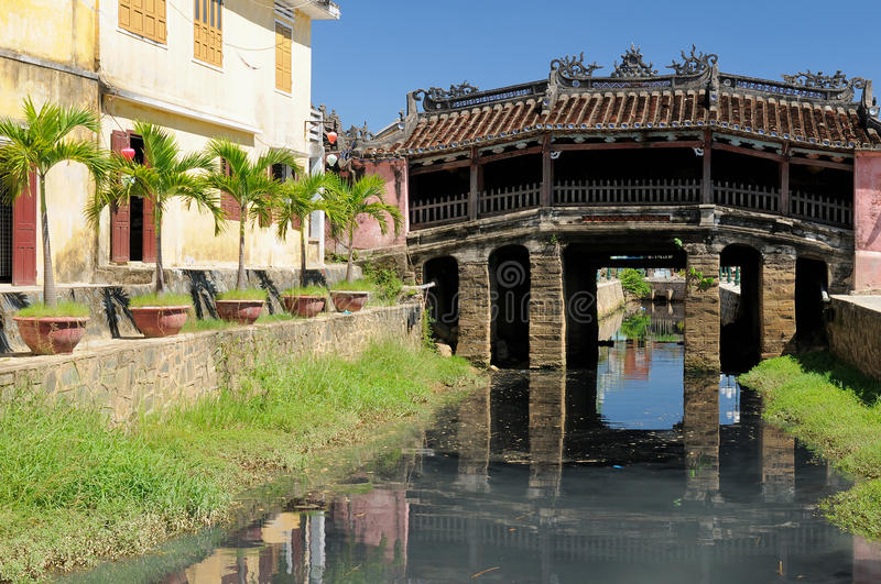 Japanese covered brigde in Hoi An royalty free stock image
