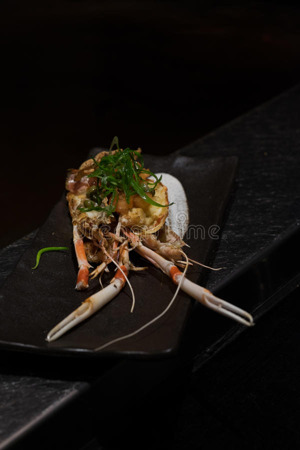 Japanese crab dish royalty free stock image