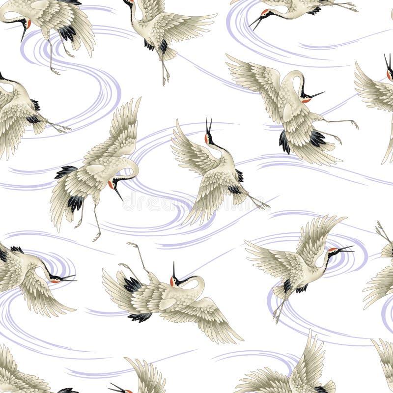 Japanese crane stock illustration
