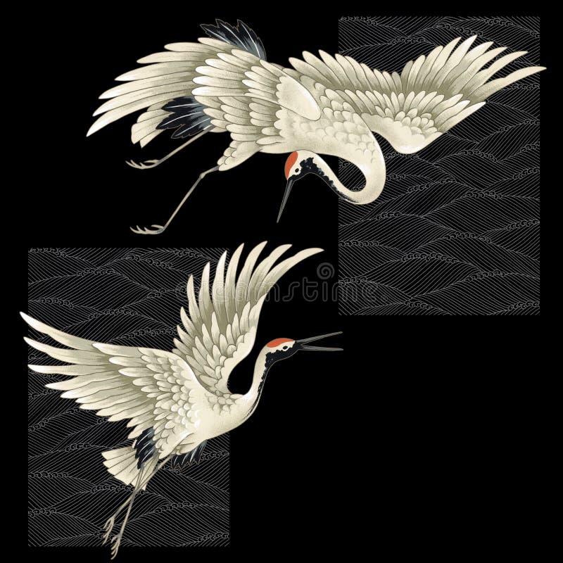 Japanese crane royalty free illustration