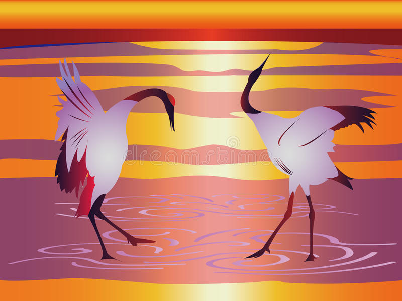 Download Japanese Cranes Royalty Free Stock Photo - Image: 20388955