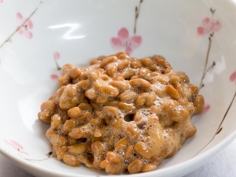 Japanese cuisine, fermented soybeans. Called Natto stock image