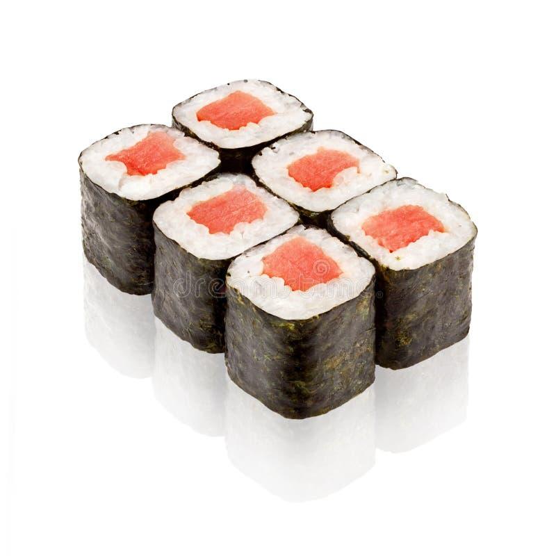 Japanese cuisine. Maki sushi. On white background royalty free stock photography