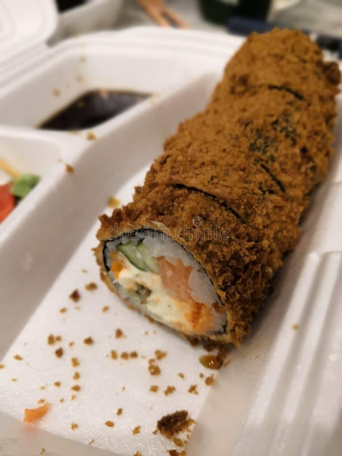 Japanese cuisine rolls stock photography