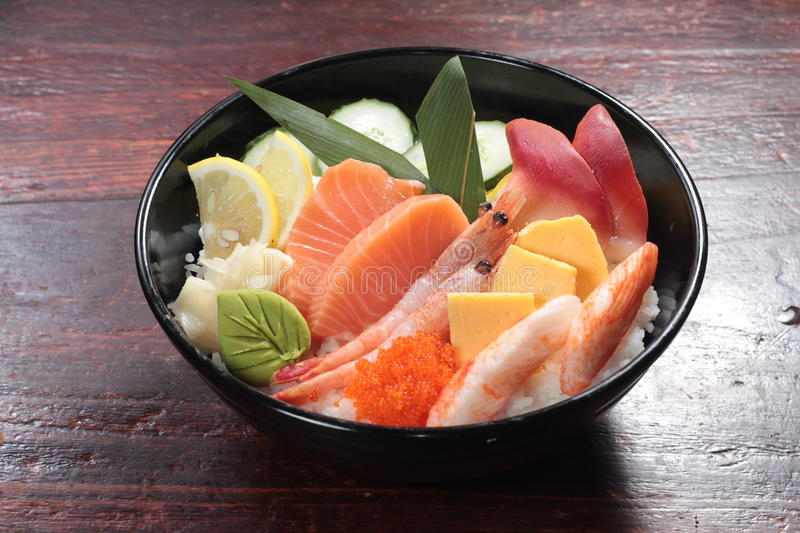 Japanese cuisine of sashimi royalty free stock photos