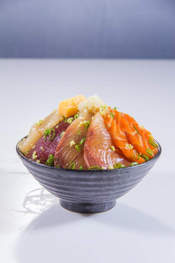 Japanese cuisine of sashimi stock images