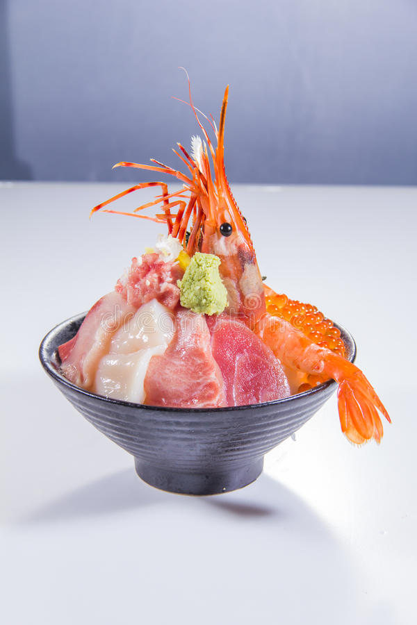Japanese cuisine of sashimi stock photos