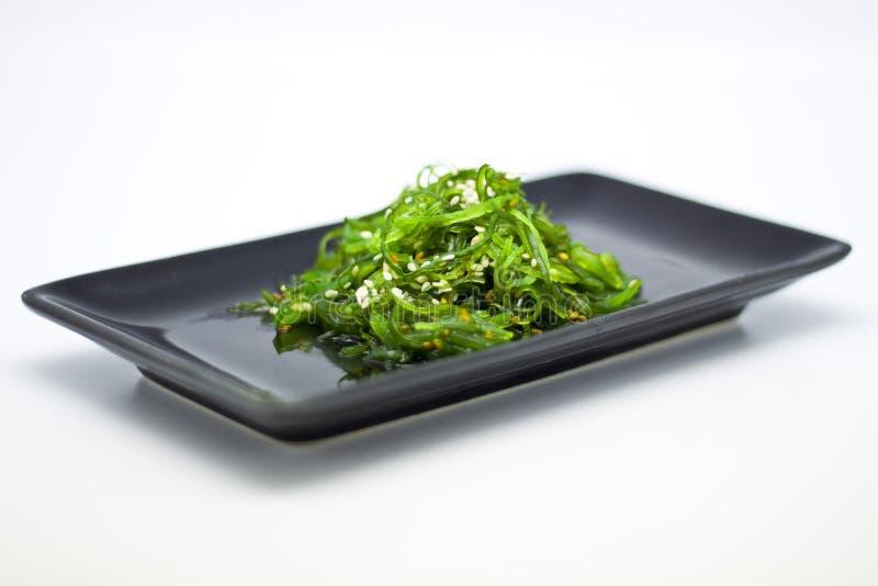 Japanese Cuisine , Seaweed Salad in black plate