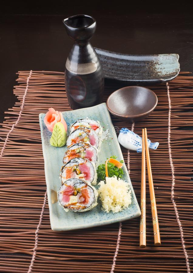 Japanese cuisine. sushi on the background. Japanese cuisine. sushi on background stock images