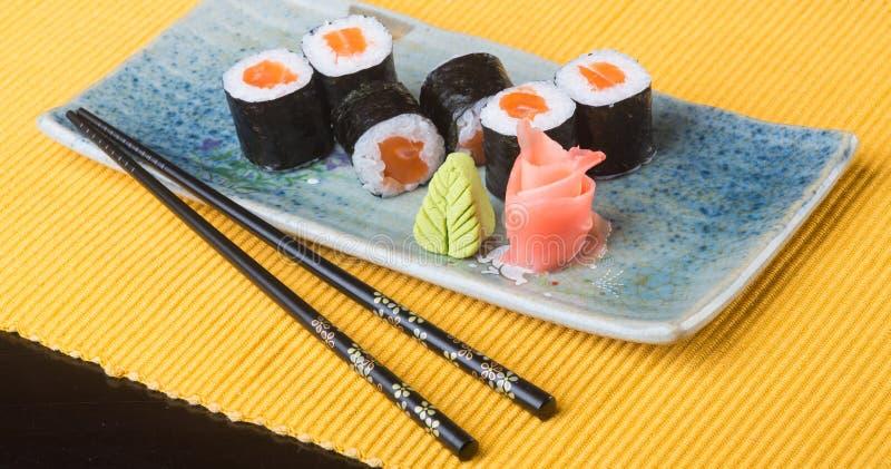 Japanese cuisine. sushi on the background. Japanese cuisine. sushi on background royalty free stock photos