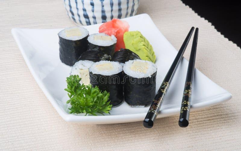 japanese cuisine. sushi on the background stock photo