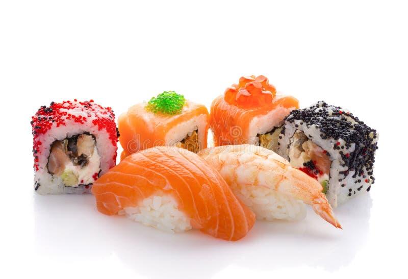 Japanese cuisine. Sushi. Japanese cuisine. Sushi isolated on white background stock photography