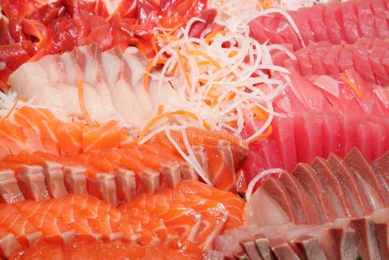 Japanese Cuisine - Sushi. The Japanese Cuisine - Sushi on background stock photo