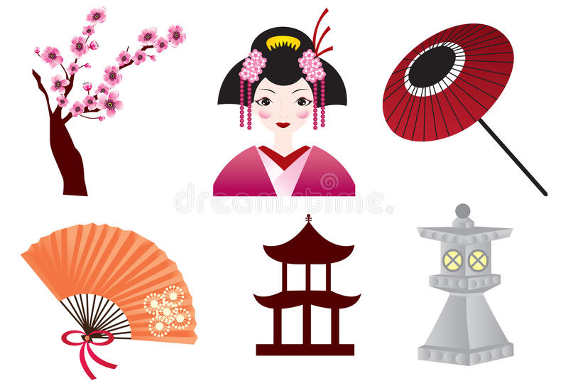 Download Japanese Culture stock vector. Image of pink, flower - 17117077