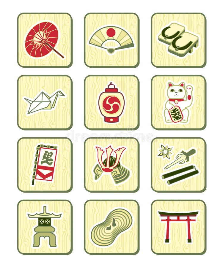 Download Japanese Culture Icons | BAMBOO Series Stock Vector - Image: 13808737