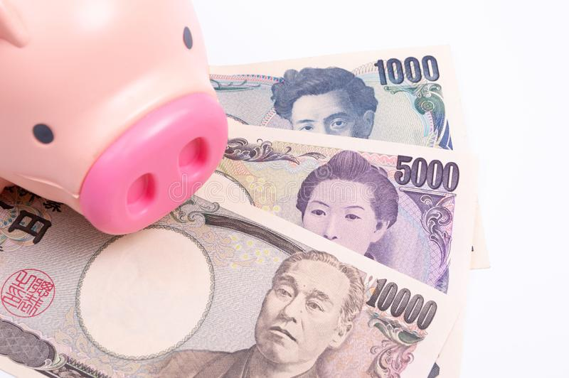Japanese currency stock image