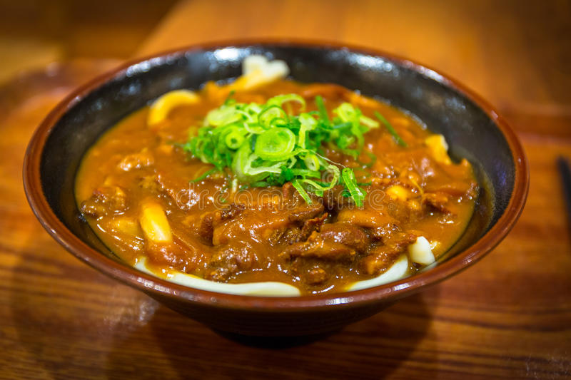 Japanese curry udon stock images
