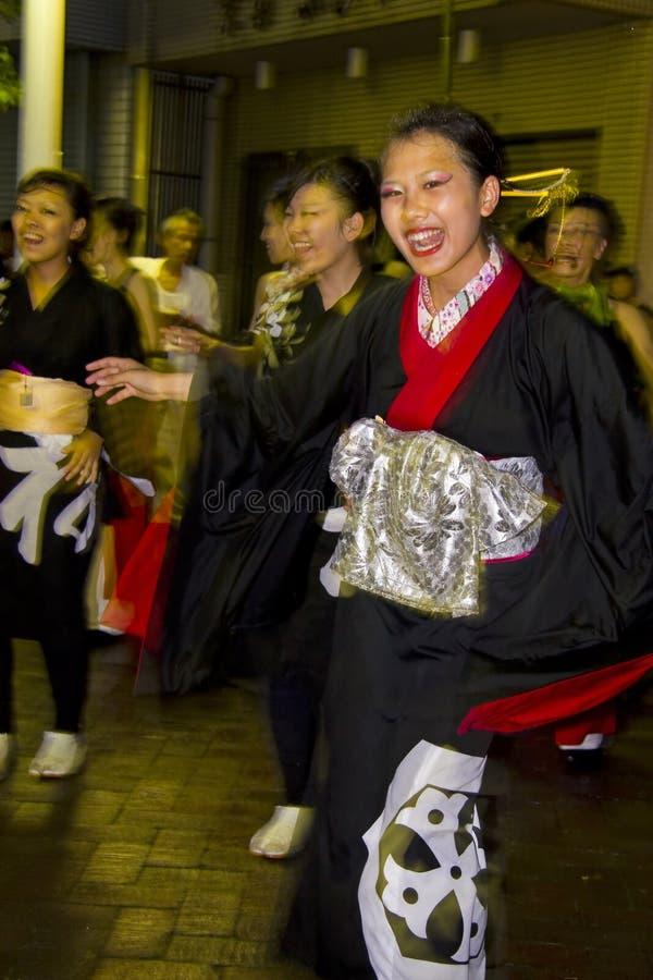 Japanese dancers festival kimono
