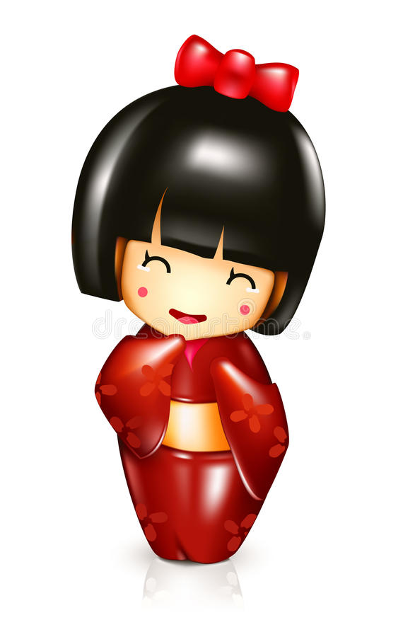 Japanese doll royalty free illustration