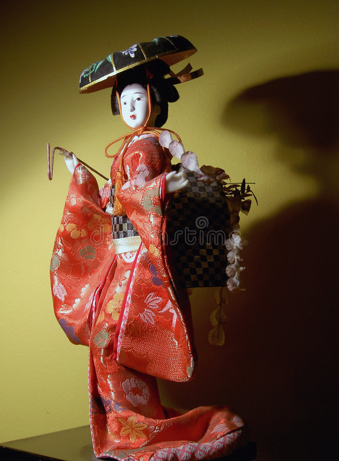 Japanese doll stock images