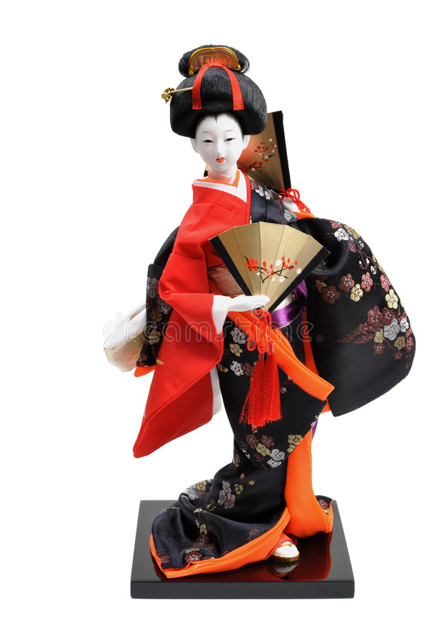 Japanese Doll stock photography