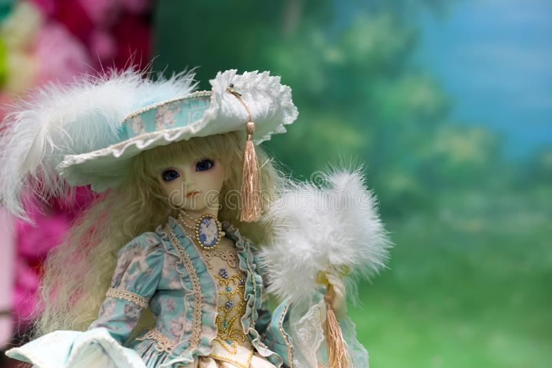 Japanese doll lolita style. Photo taken in a photo studio royalty free stock photography