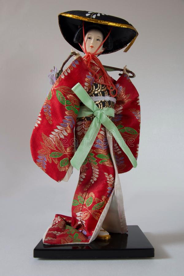 Japanese doll. One of the famous japanese doll royalty free stock photography