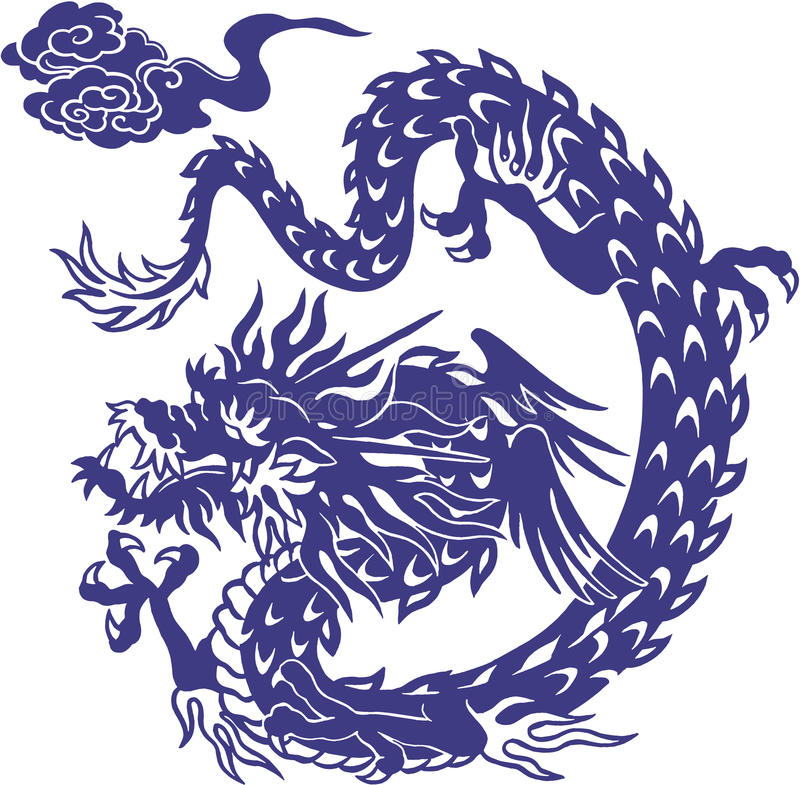 Japanese dragon. I designed an Oriental dragon It is a vector work vector illustration