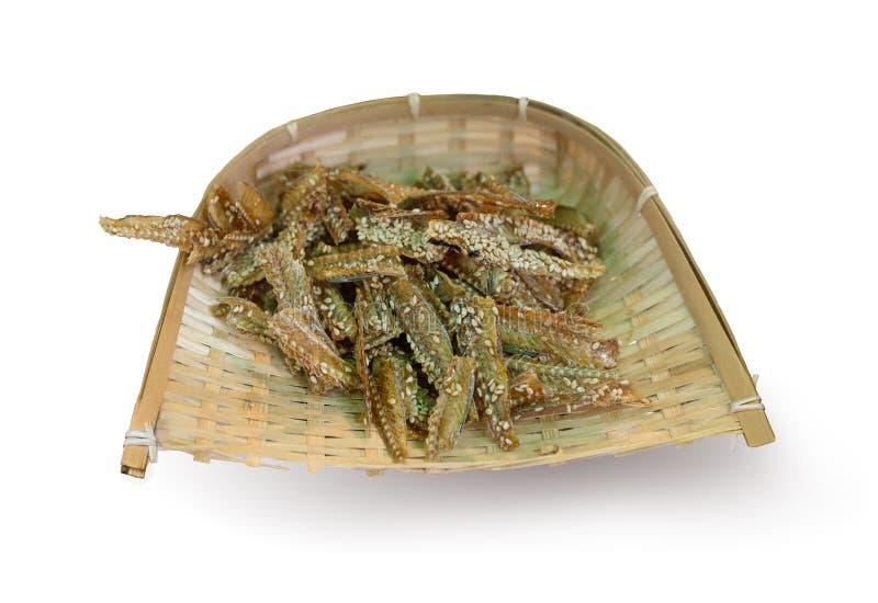 Japanese dried fish snacks crackers stock photo