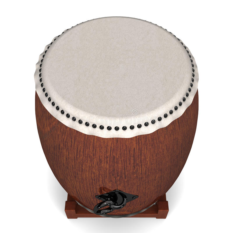 Japanese Drum Top View stock illustration