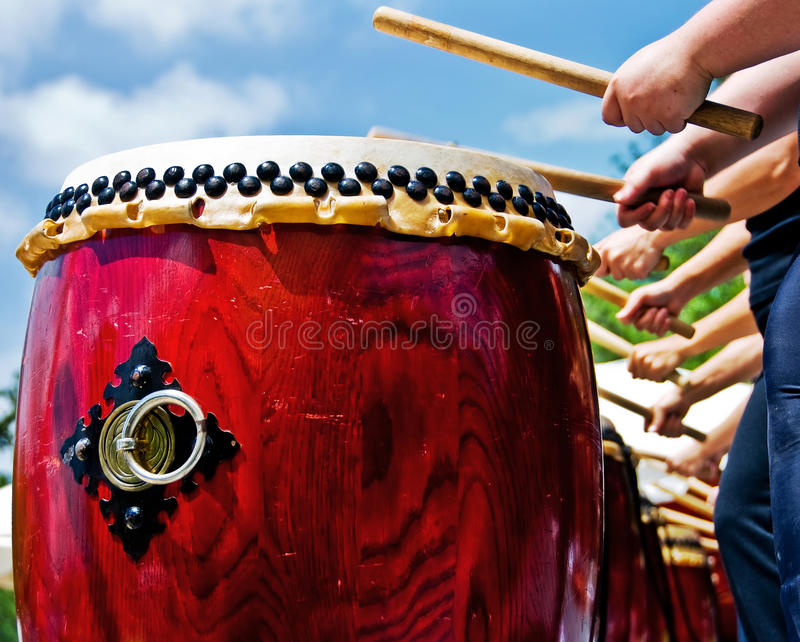 Download Japanese drums stock photo. Image of nail, grain, sunny - 14314462