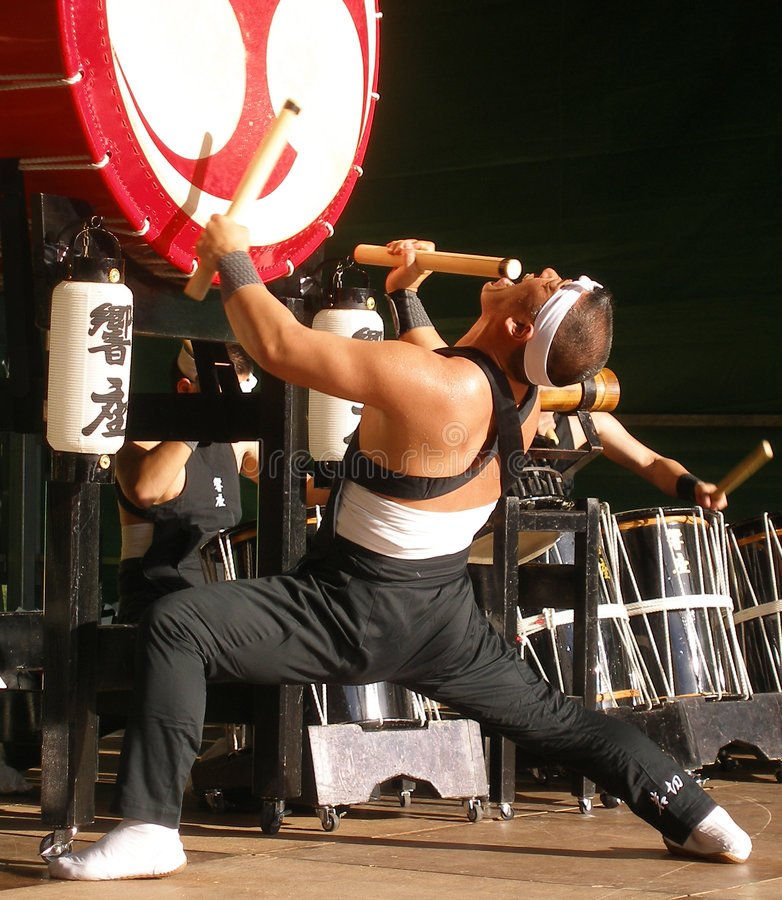 Japanese Drums royalty free stock photos