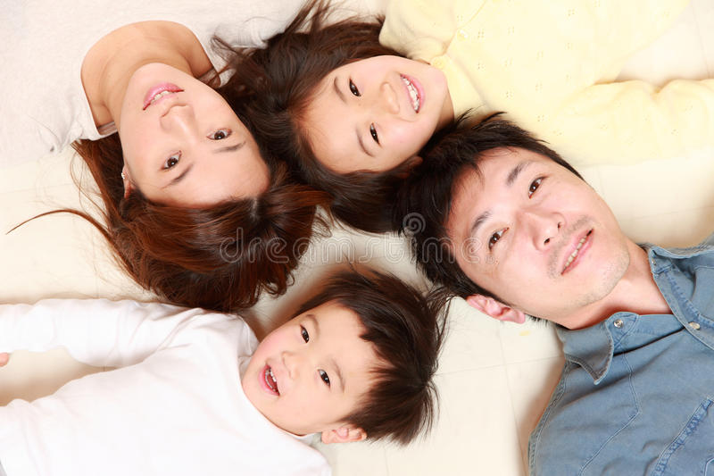 Japanese Family Of Four stock images