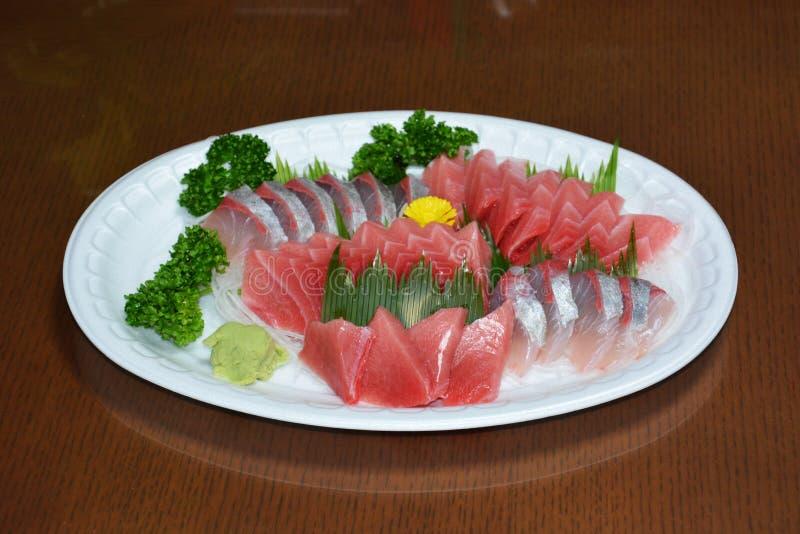 Sashimi. Japanese feast Sashimi / Sliced raw fish royalty free stock image