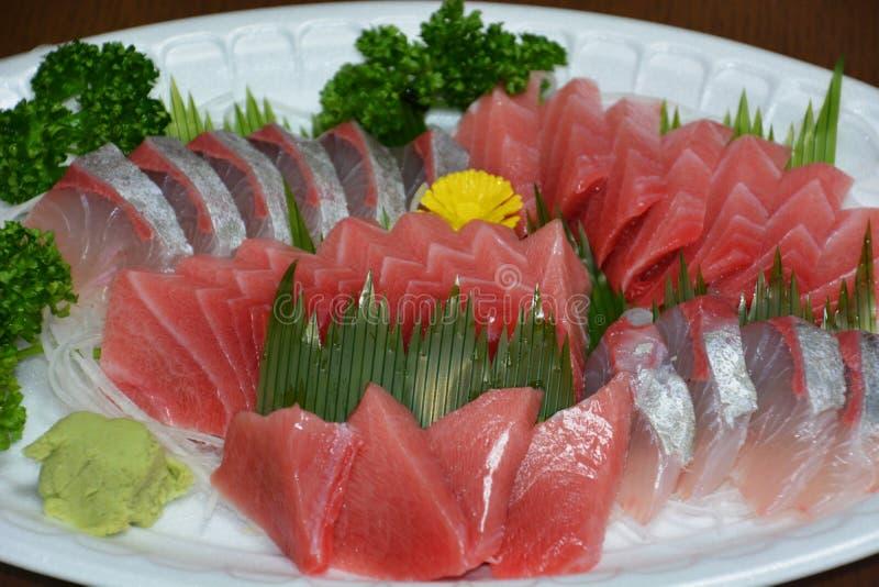 Sashimi. Japanese feast Sashimi / Sliced raw fish royalty free stock photos