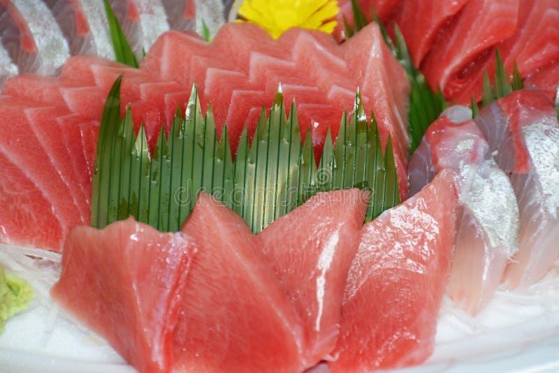 Sashimi. Japanese feast Sashimi / Sliced raw fish stock photos