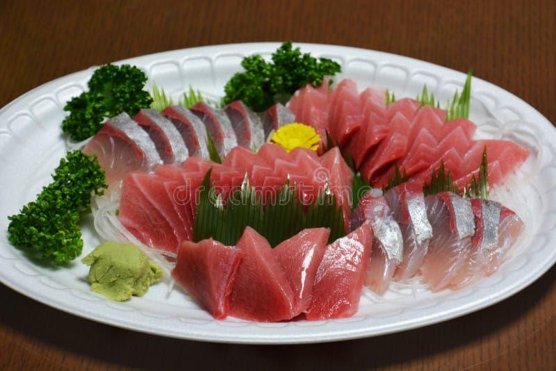 Sashimi. Japanese feast Sashimi / Sliced raw fish royalty free stock photography
