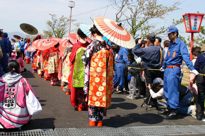 Download Japanese Festival editorial stock image. Image of umbrella - 18038749