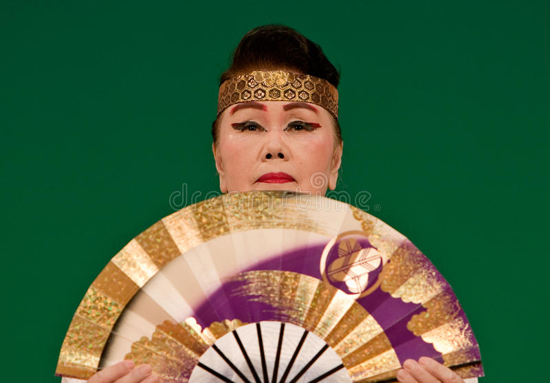 Download Japanese Festival Dancer With A Fan Editorial Photo - Image: 12665001