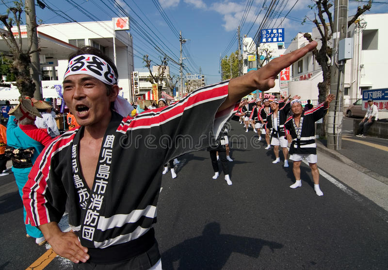 Download Japanese Festival Dancers editorial photography. Image of costumes - 12668292