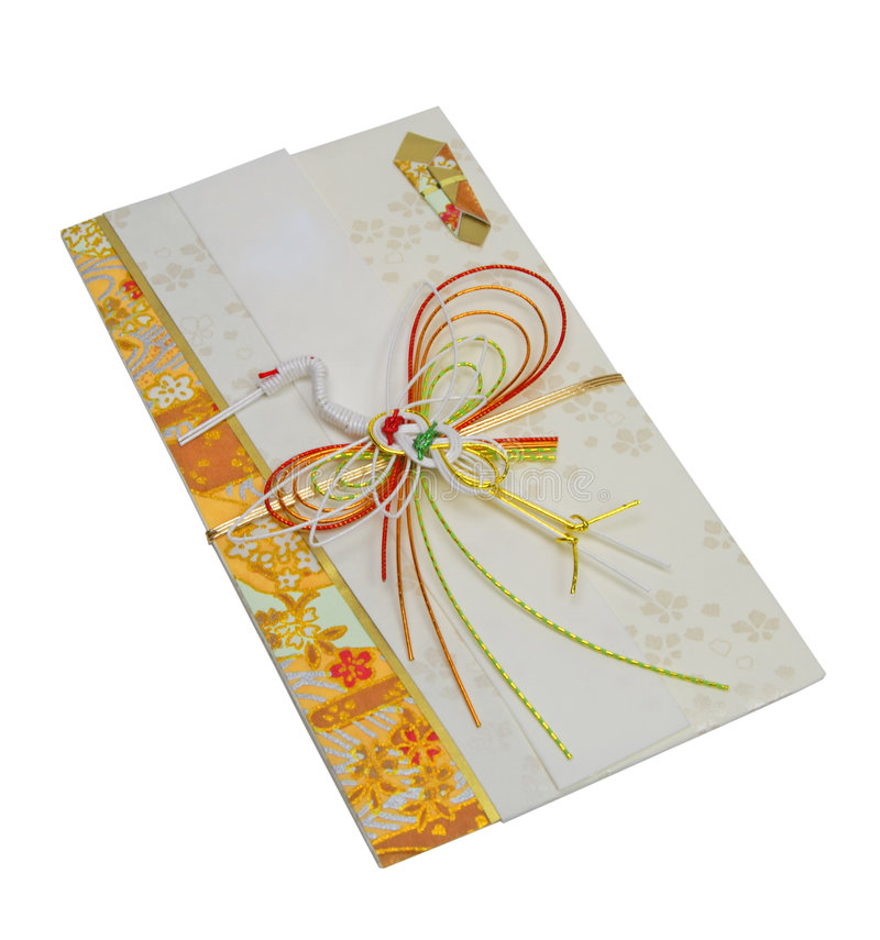 Japanese festive envelope royalty free stock photo