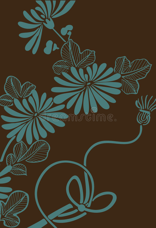 Japanese floral background vector illustration