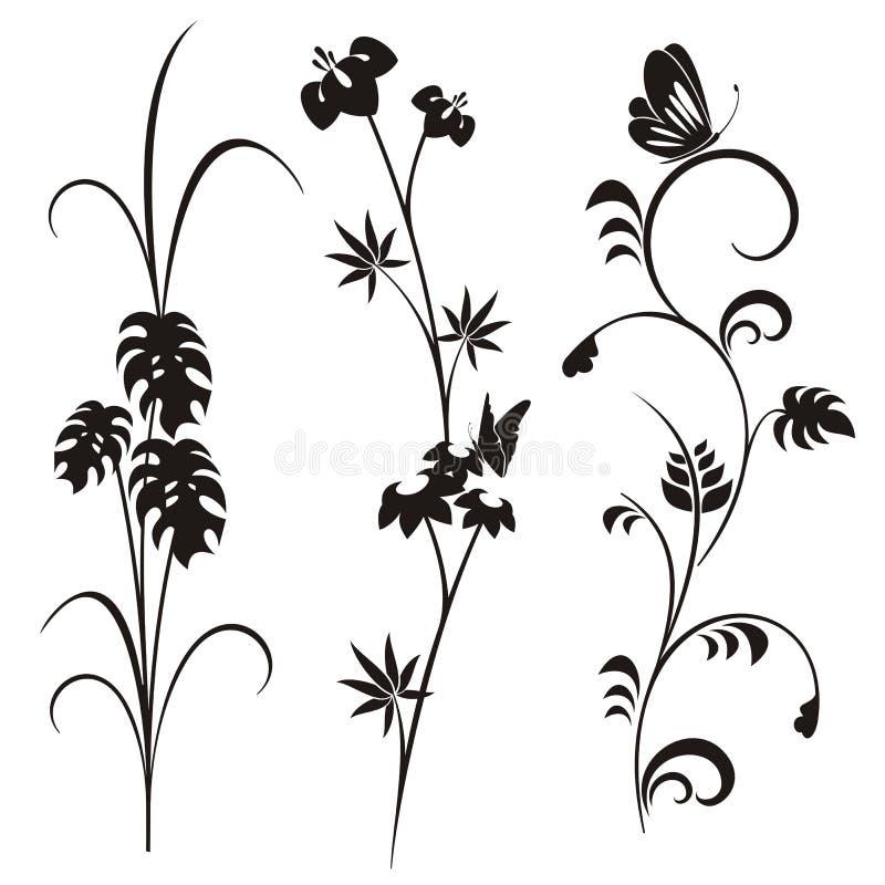 Japanese floral design series vector illustration