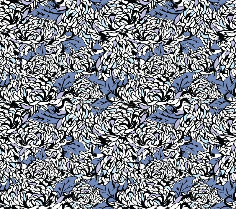 Japanese floral patterns stock illustration