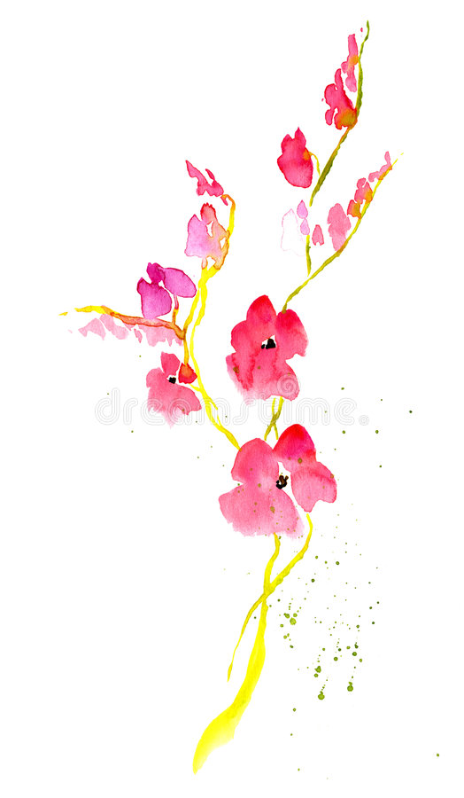 Download Japanese flower stock illustration. Illustration of backdrop - 9195990