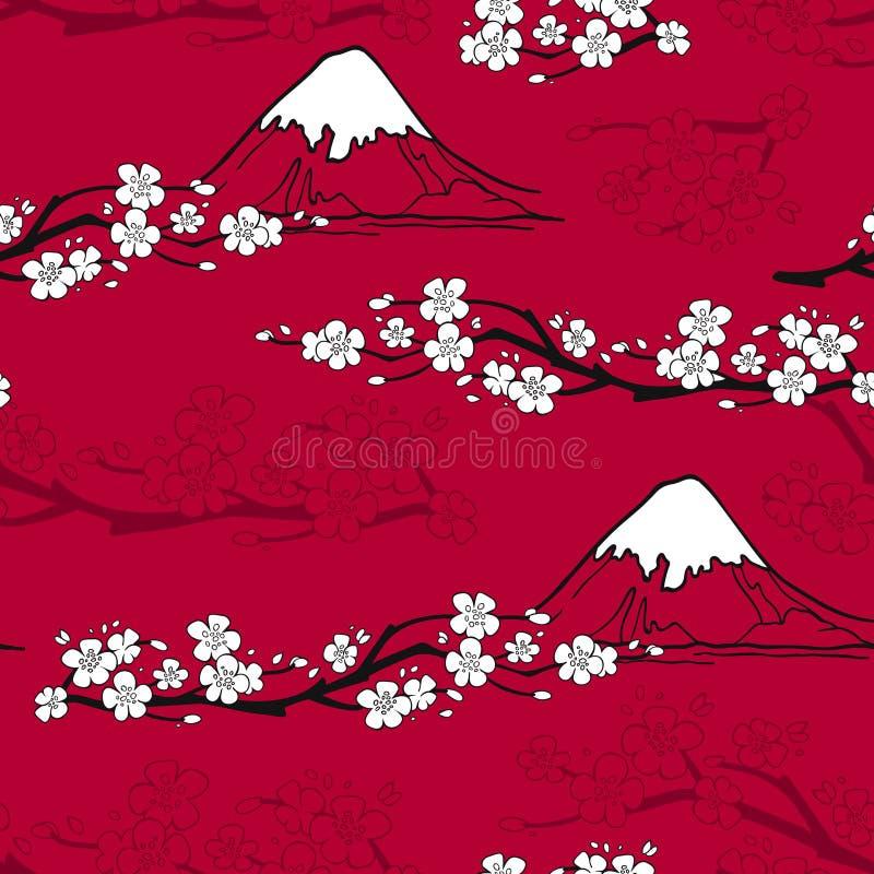 Japanese Flower Pattern stock illustration