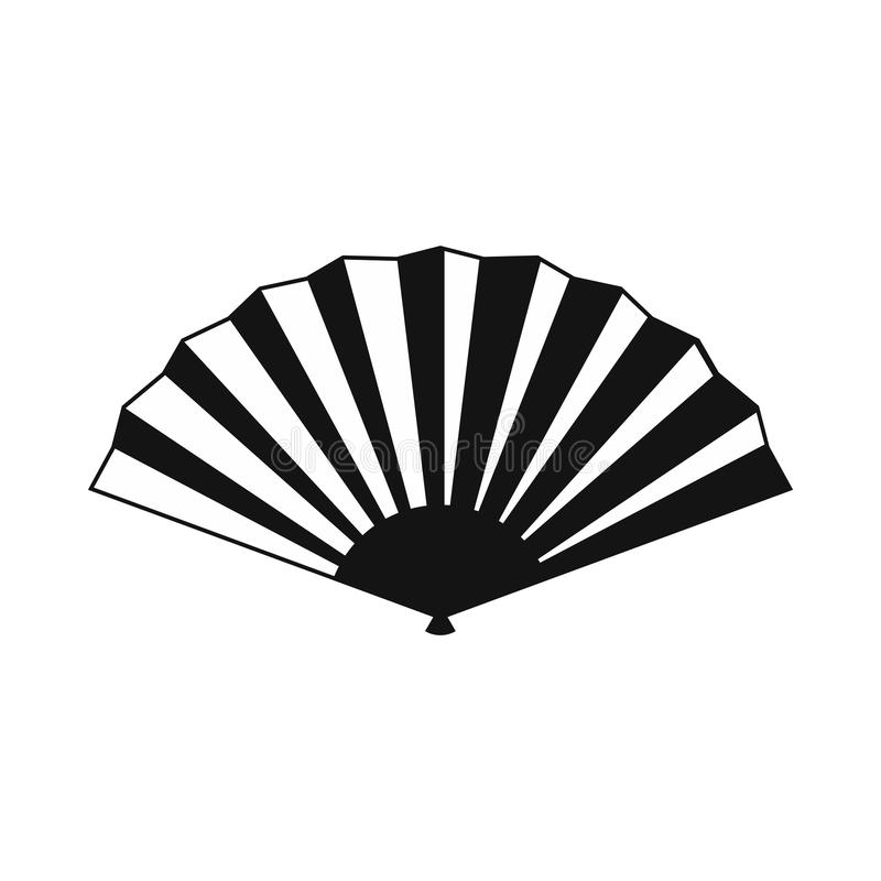 Japanese Folding Fan Icon, Simple Style Stock Vector ...
